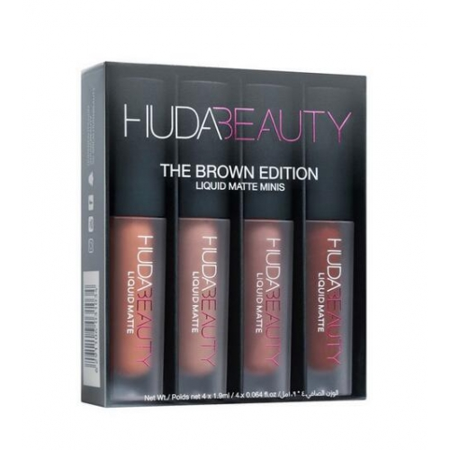 Huda Beauty  Liquid Matte Minis – Brown Edition